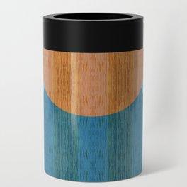 Orange Blues Geometric Shapes Can Cooler