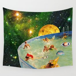 Screaming Children in Pool Wall Tapestry