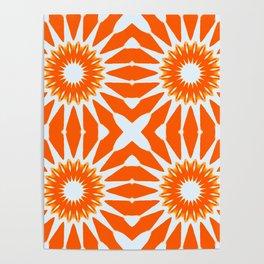 Orange Pinwheel Flowers Poster