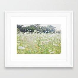 In a Field of Wildflowers Framed Art Print
