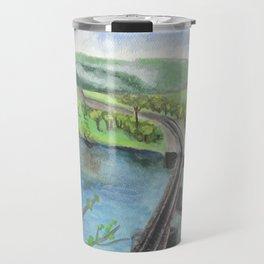 Railroad Across a River Travel Mug