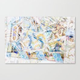 Mosaic of Barcelona XVII Canvas Print