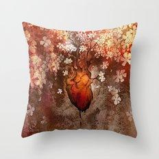 This Bleeding Blossoming Heart Throw Pillow