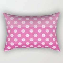 Pink Gamer Girl Rectangular Pillow