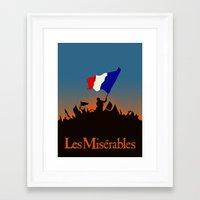 les miserables Framed Art Prints featuring Les Miserables by TheWonderlander