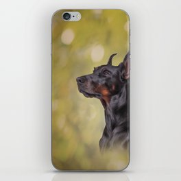 Drawing Doberman dog 2 iPhone Skin