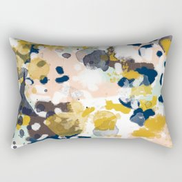 Sloane - abstract painting gender neutral baby nursery dorm college decor Rectangular Pillow