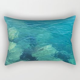 Beau Aqua Rectangular Pillow