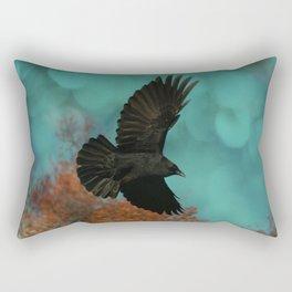 Soaring Crow Rectangular Pillow