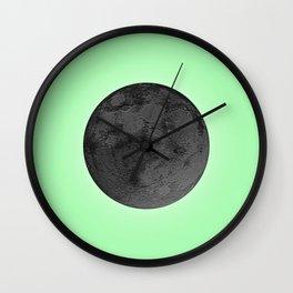 BLACK MOON + LIME GREEN SKY Wall Clock