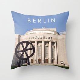 EAST BERLIN THEATRE - VOLKSBUEHNE Throw Pillow