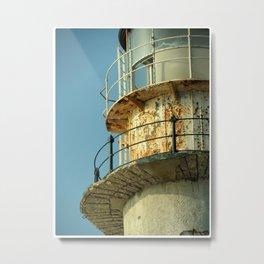 Lighthouse in Greece Metal Print