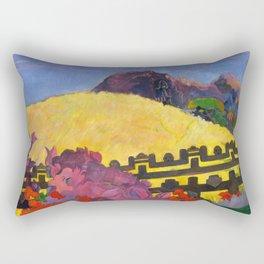 "Paul Gauguin ""Parahi te marae (There is the Temple)"" Rectangular Pillow"