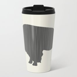 Buffalo Silhouette Metal Travel Mug
