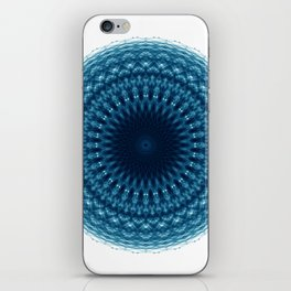 Mandala of Quantum Abundance (blue) iPhone Skin