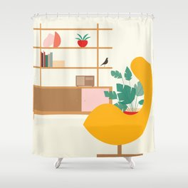 Inside mid century modern 321 Shower Curtain