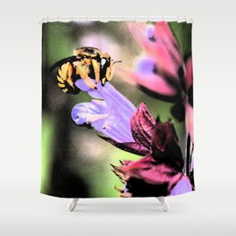 Bee and Flower Shower Curtain