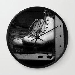 Vintge Skates-B&W Wall Clock