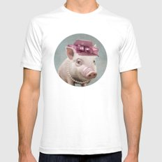 Miss Piggy 2X-LARGE White Mens Fitted Tee