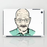 walter white iPad Cases featuring Walter White by Stella Vee