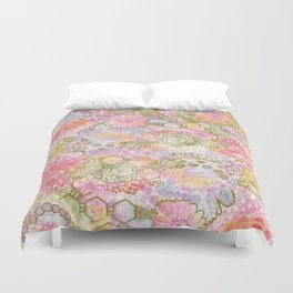 Bubbles, Flowers, and Lace Duvet Cover