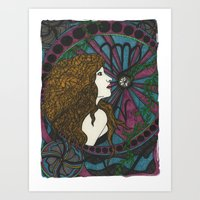 virgo Art Prints featuring Virgo by Laura Jean