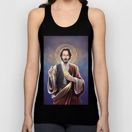 Saint Keanu of Reeves Unisex Tank Top