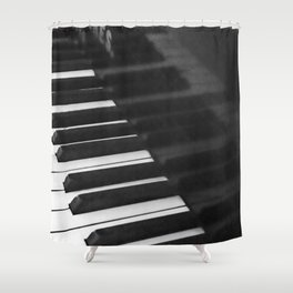 Old grand piano Shower Curtain