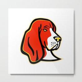 Basset Hound Dog Mascot Metal Print