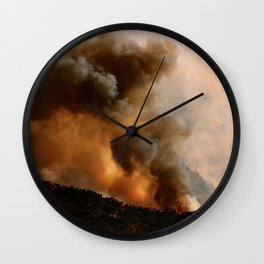 Cedar City Forest Fire - III Wall Clock