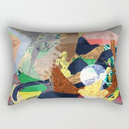 Abstract composition with chess pieces Rectangular Pillow