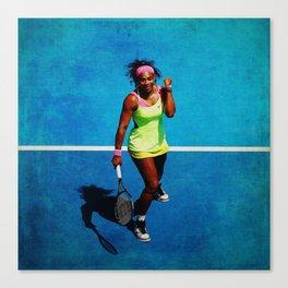 Serena Williams Tennis Celebrating Canvas Print