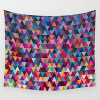 triangles Wall Tapestries featuring Triangles by Ornaart