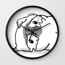 Sad Mochi the pug Wall Clock