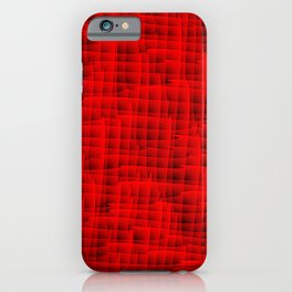 Square intersections red lines on a dark tree. iPhone Case