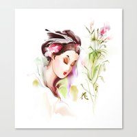 japanese Canvas Prints featuring Japanese by tatiana-teni