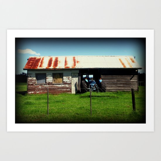 Maccas Drive Thru - Country Style Art Print