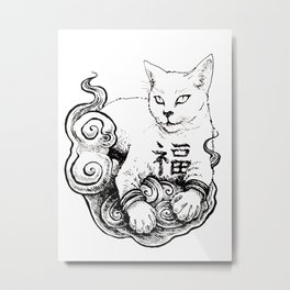 Maneki Neko(Beckoning cat) Metal Print