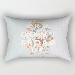 Bro Down, Broad Up Rectangular Pillow