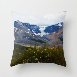 The Athabasca & Snow Dome Glaciers in Jasper National Park, Canada Throw Pillow