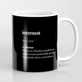Internest black and white modern typography quote bedroom poster wall art home decor Coffee Mug