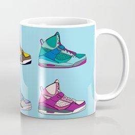 Colorful Sneaker set illustration blue illustration original pop art graphic print Coffee Mug