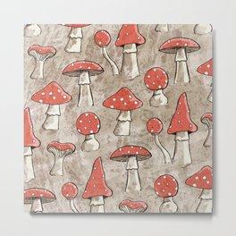 Spotty Fungi Pattern Metal Print