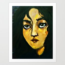 Bird Girl (portriat) Art Print