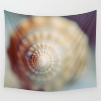 shell Wall Tapestries featuring Shell by elle moss