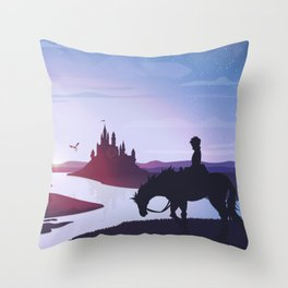 Prince Todoroki Landscape Throw Pillow