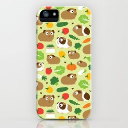 Guinea Pig And Its Treats iPhone Case