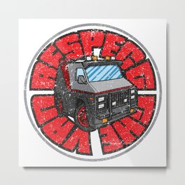 Respect the Van Metal Print