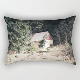 travelling east into the past Rectangular Pillow