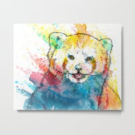 Red Panda - animal painting, illustration, colorful Metal Print